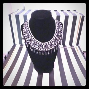 INC Crystal Bib Necklace 🌟